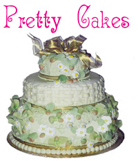 Graphic of a three tiered pretty cake.